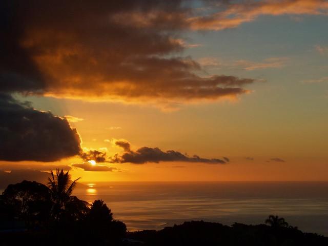 Bientôt la nuit... Soirée du 22 août à Tahiti
