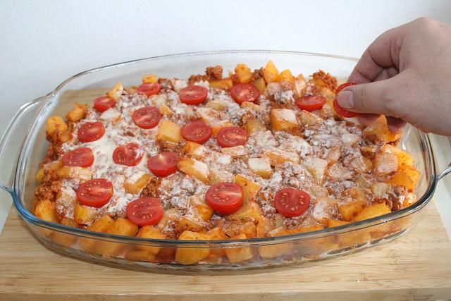 25 - Kirschtomaten hinzufügen / Add cherry tomatoes