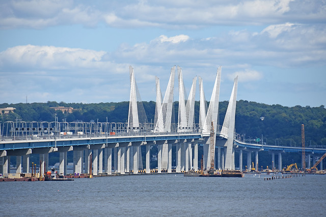 Here Is A Picture Taken  From Nyack New York Shows The New Mario M Cuomo Bridge. The Old Tappan Zee Bridge Is Now Gone. Photo Taken Saturday August 24, 2019