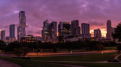 a7m3 sonya7iii austintexas austin jcutrer atx downtown downtownaustin travel tourism city cityscape skyline panoramic dawn sunrise texas tourist buildings purple pink early am dramatic color colorful lights urban metro wide highres a7iii