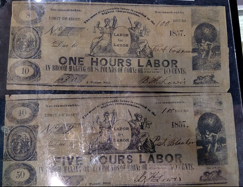 Gil Parsons table Labor scrip