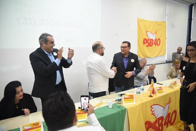 Ato de filiação do deputado estadual Professor Cleiton (PSB-MG) - 23/8/2019