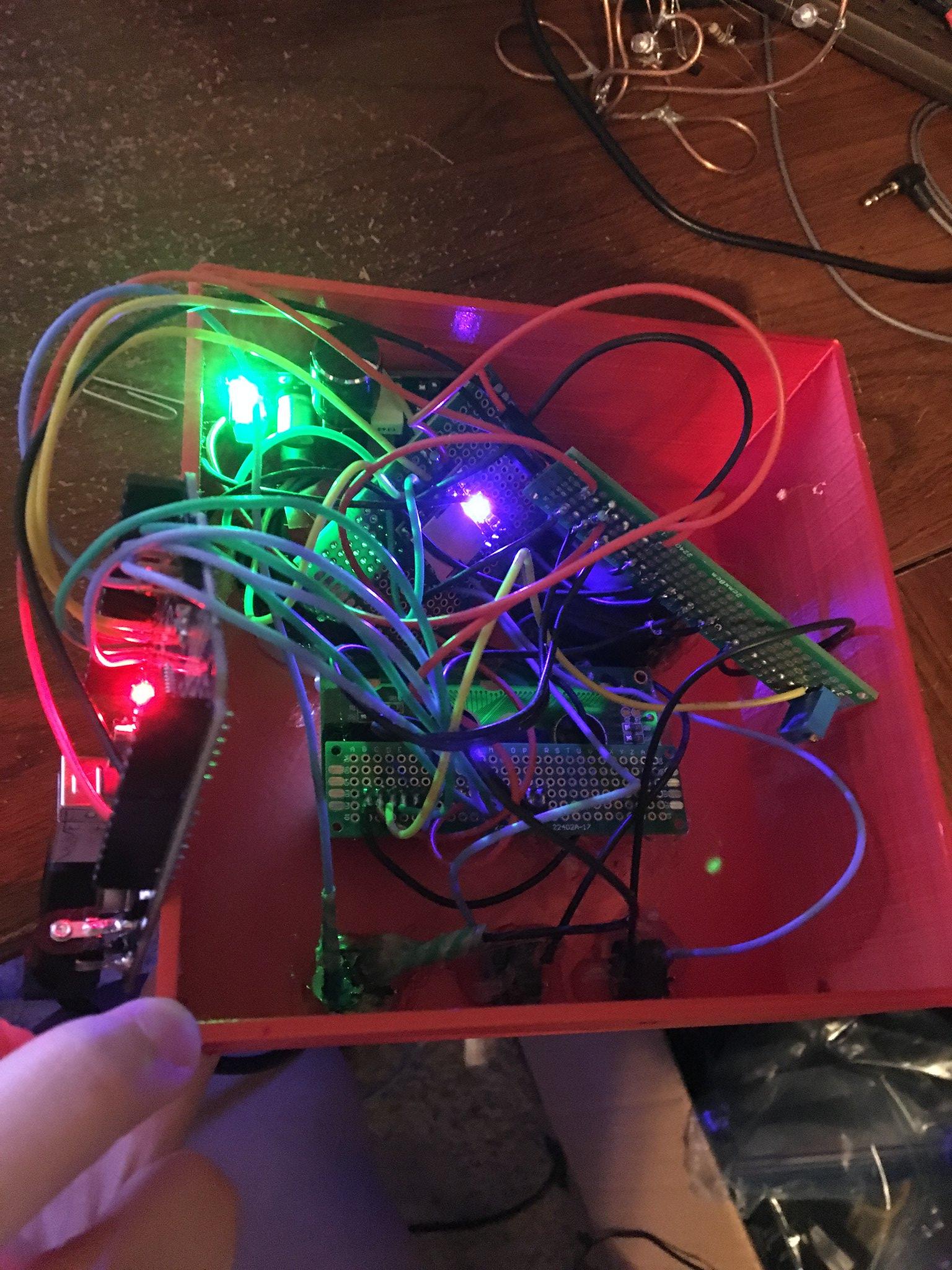 Protoboard turned on