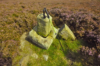 The cross base on Carr Cote Ridge beside the Magna Via