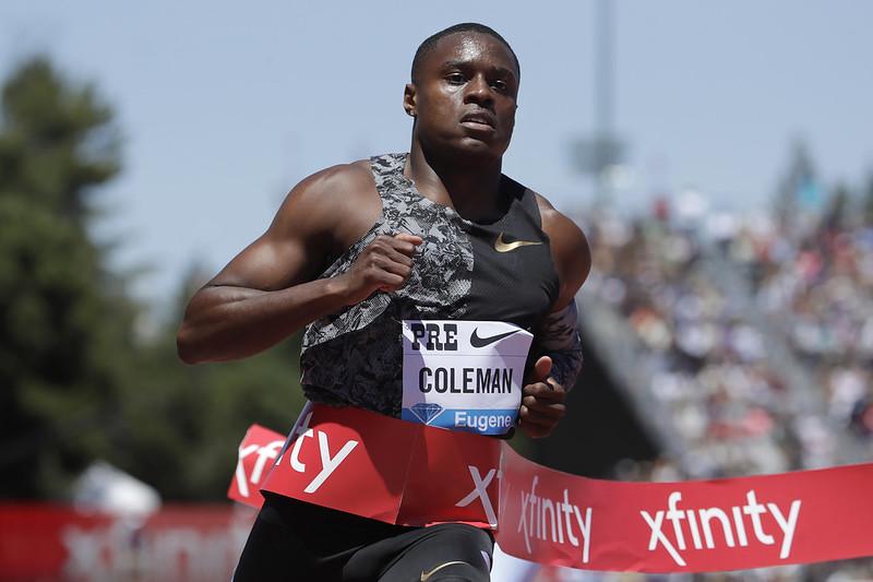 Christian Coleman。(達志影像資料照)