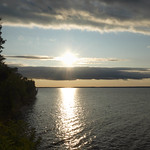 24. August 2019 - 19:05 - Summer Sun getting ready to set over Lake Ontario