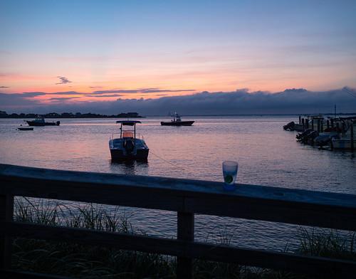 fairharbor ny fireisland fireislandny fairharborfireisland twilight latetwilight silhouette dock sunset