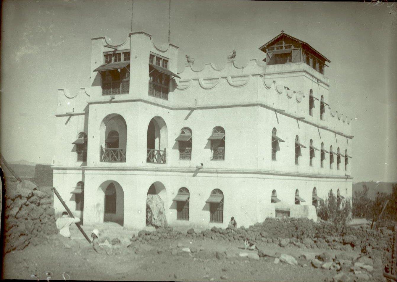235. Абиссиния, провинция Харар, г. Харар. Новый дворец раса (правителя) Маконена