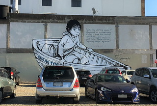 "Christchurch mural: ""Rising Tide"" - Richard 'Pops' Baker"
