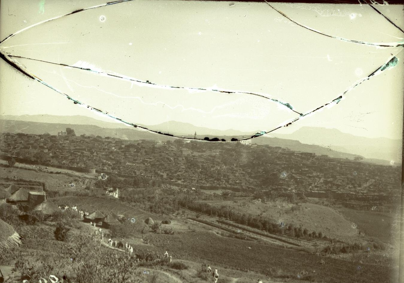 226. Абиссиния, провинция Харар, г. Харар. Общий вид