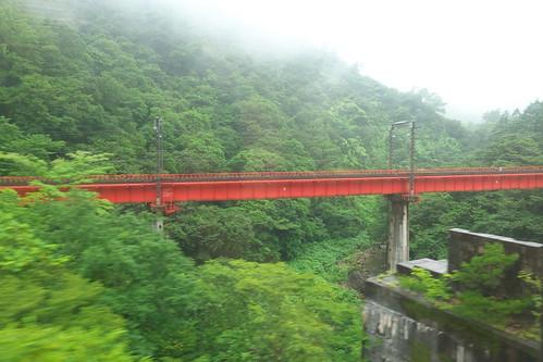 奥羽本線 松川橋梁(赤岩駅付近)