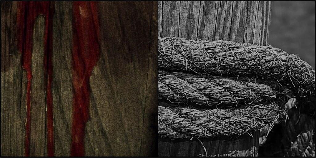 blood on wood