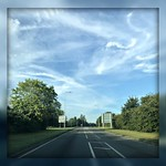 24. August 2019 - 7:47 - The clouds were very 'artistic' as I drove to the supermarket Saturday morning.... before many others got on the road!