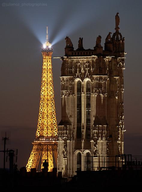 « Règlement de compte entre la tour Eiffel, et la tour Saint-Jacques «