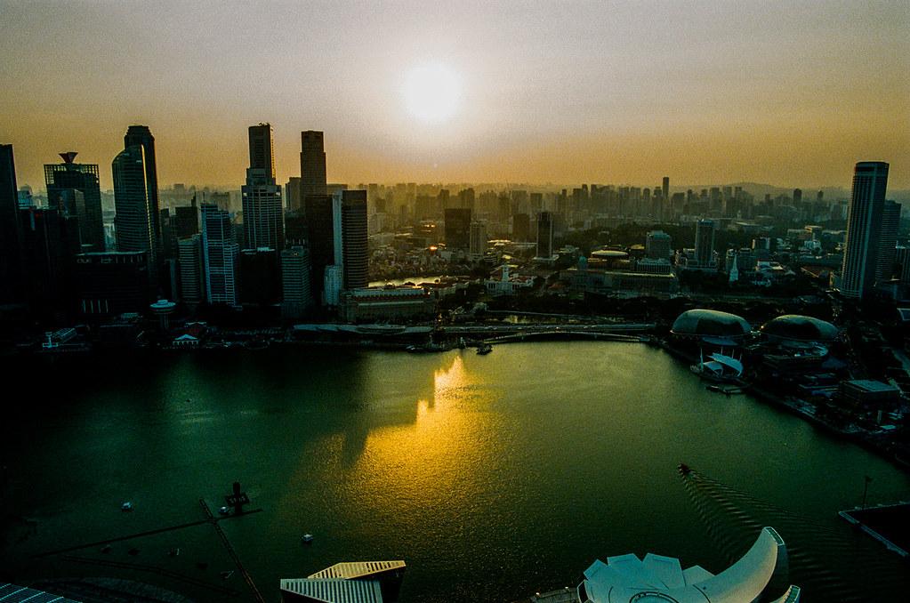 Before sunset over Singapore's Marina Bay