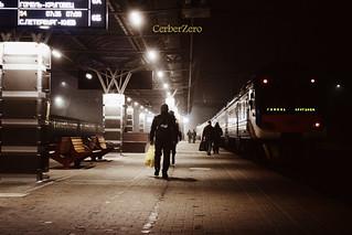 спешащие на поезд