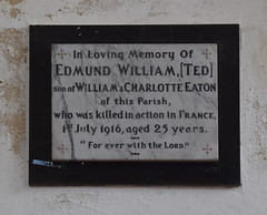 Killed in Action in France 1st July 1916