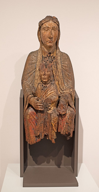 Unidentified artist, French, Virgin and Child in Majesty (Seat of Divine Wisdom), 1170s. Polychomed wood Harvard Art Museum