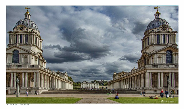 Naval College, Queen's House & the Royal Observatory, Greenwich, London.