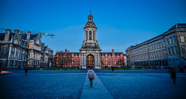 Trinity College Parliament Square and Campanile - Dublin Ireland