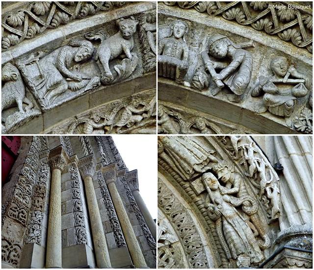 Détails de l'église Sainte-Croix de Bordeaux (montage)
