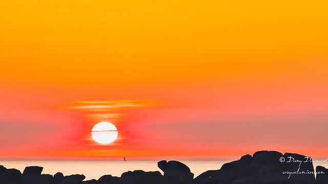 coucher de soleil à Kerlouan