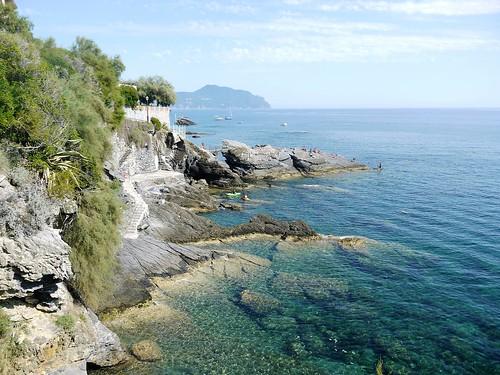 Liguria, Genova. in lontananza Portofino...