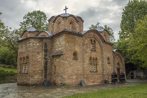 northmacedonia gornonerezi monastery church fresco 12thcentury saintpanteleimon