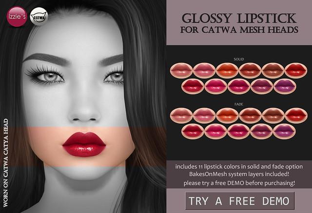 Catwa Glossy Lipstick (Uber)