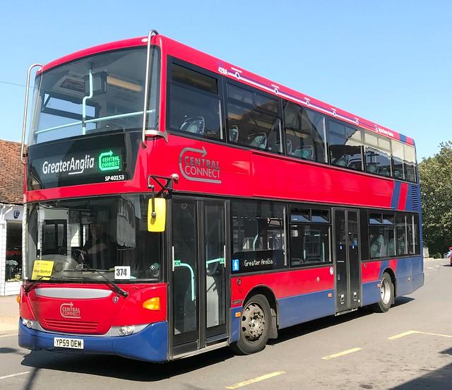 Trustybus / Galleon Travel 2009 Ltd . Roydon , Essex . YP59OEM . Dane Street , Bishop's Stortford , Hertfordshire . Sunday 25th-August-2019 .