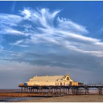 24. August 2019 - 19:03 - The Pier at Cleethorpes with a lovely batch of cirrus cloud in the background