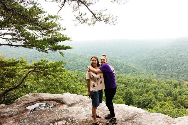 Hannah Batchelder and Annabelle Dempsey, Bee Rock Overlook, Putnam County, TN