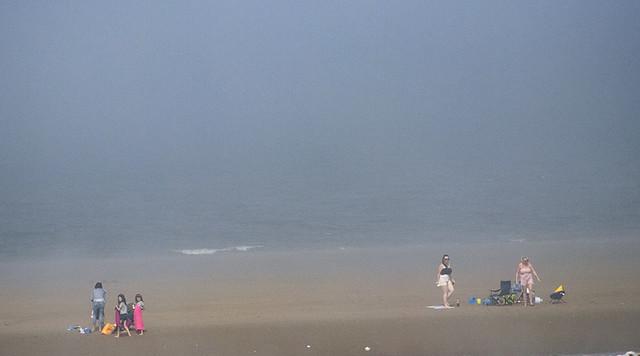 Sea mist at Pensarn