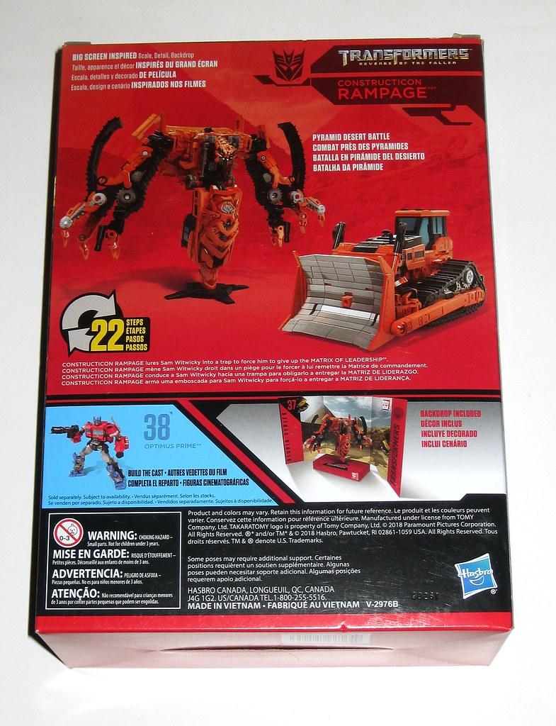 HASBRO Transformers Studio Series 37 VOYAGER Constructicon Rampage Figura