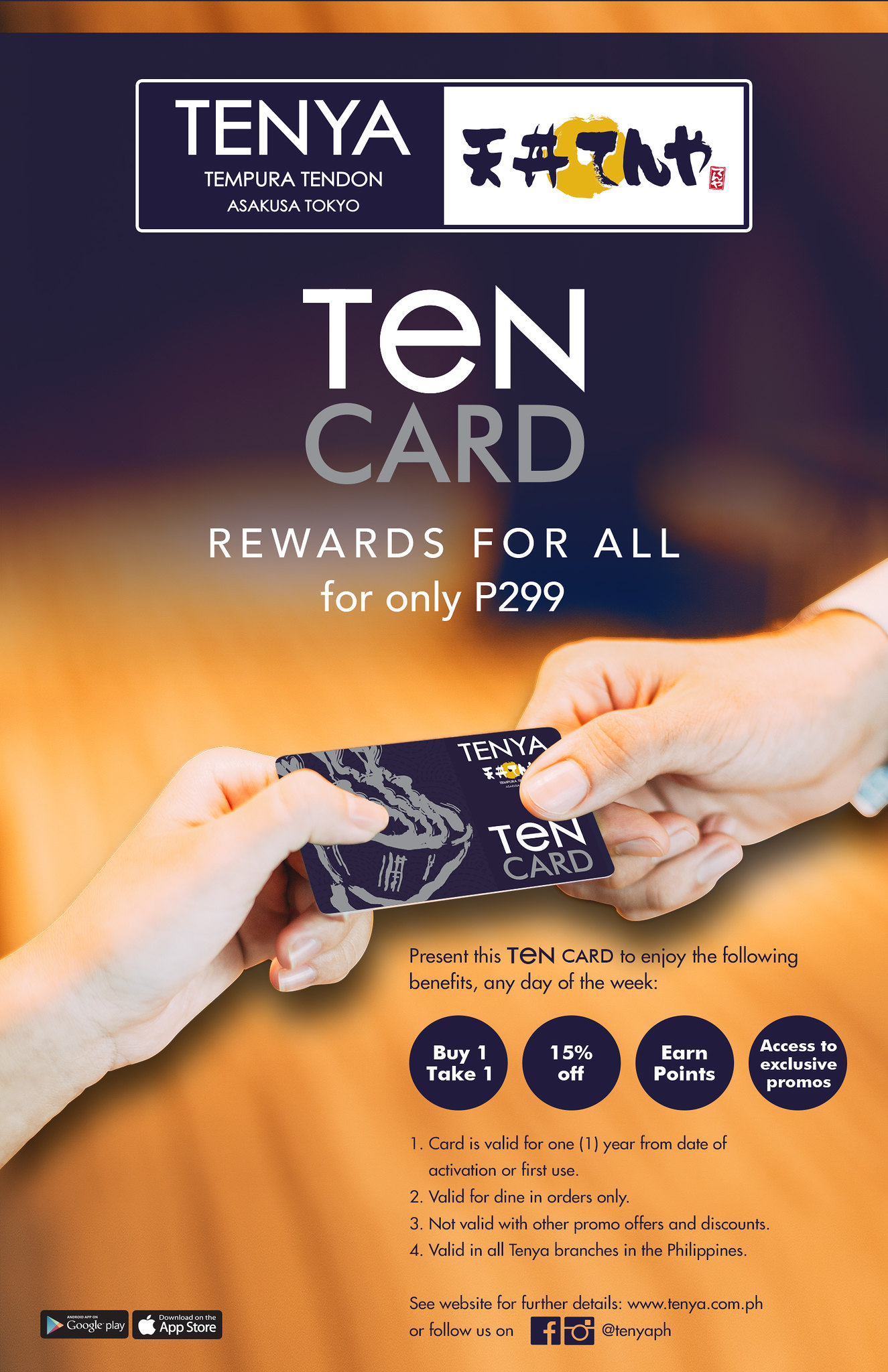 Love Japanese Food? Tenya TEN-Card Benefits and Rewards