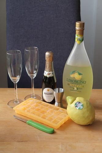 Zutaten für Limoncello Sprizz