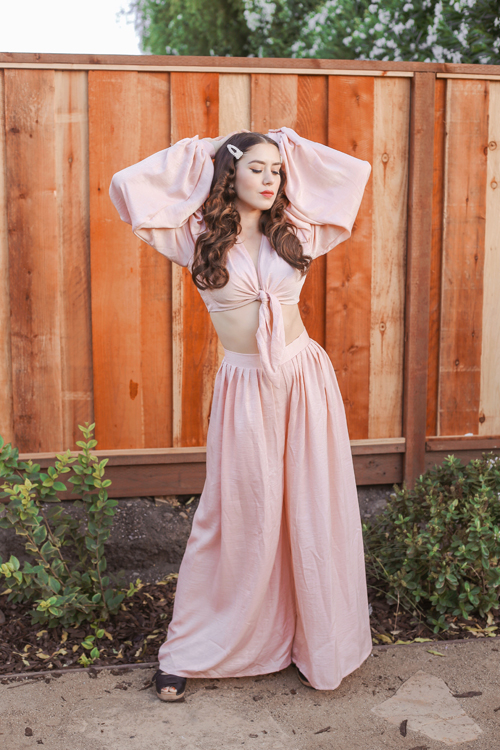 Vintage Vandalizm Harlow Set in Blush
