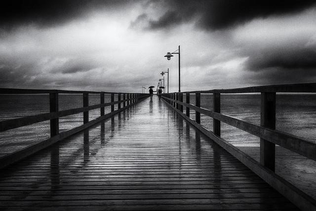 Rainy day Baltic Sea