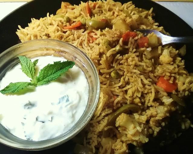 6-18. Vegetable Briyani with Riata