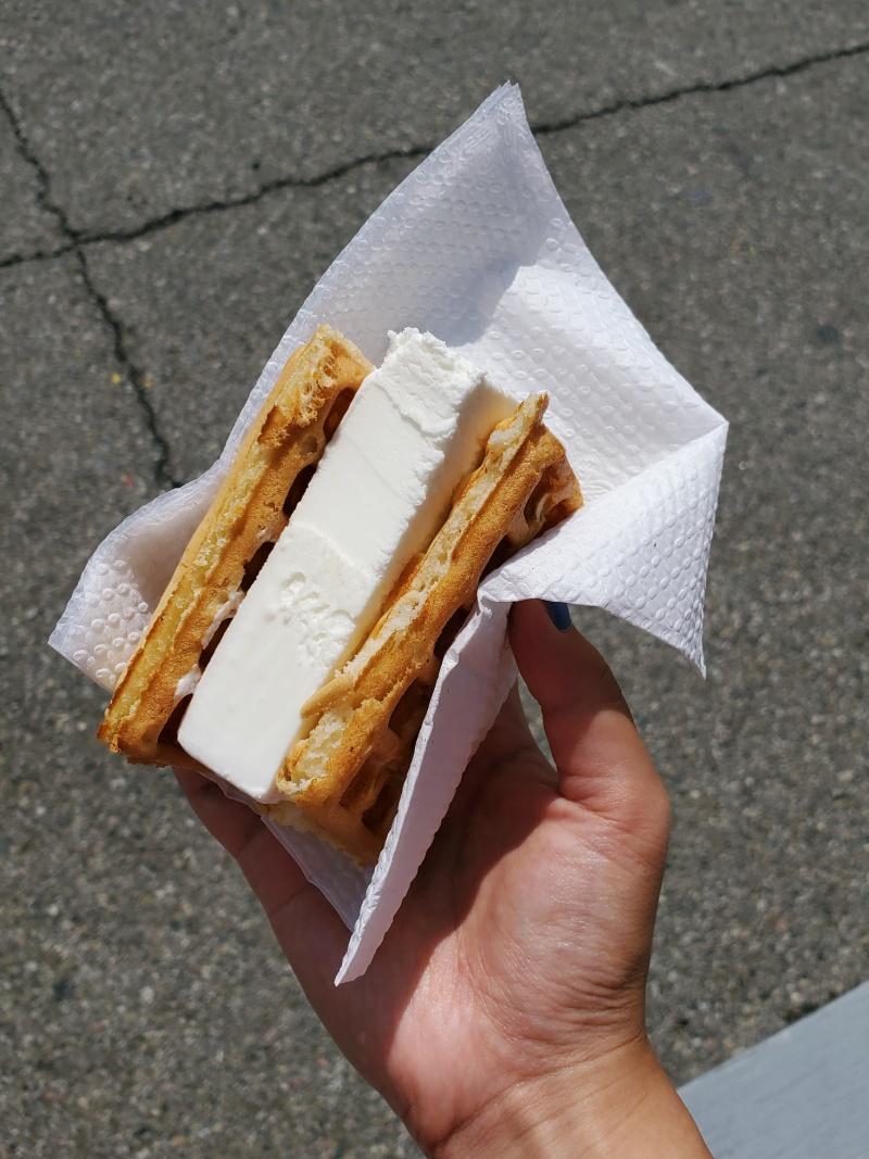 CNE ice cream waffle