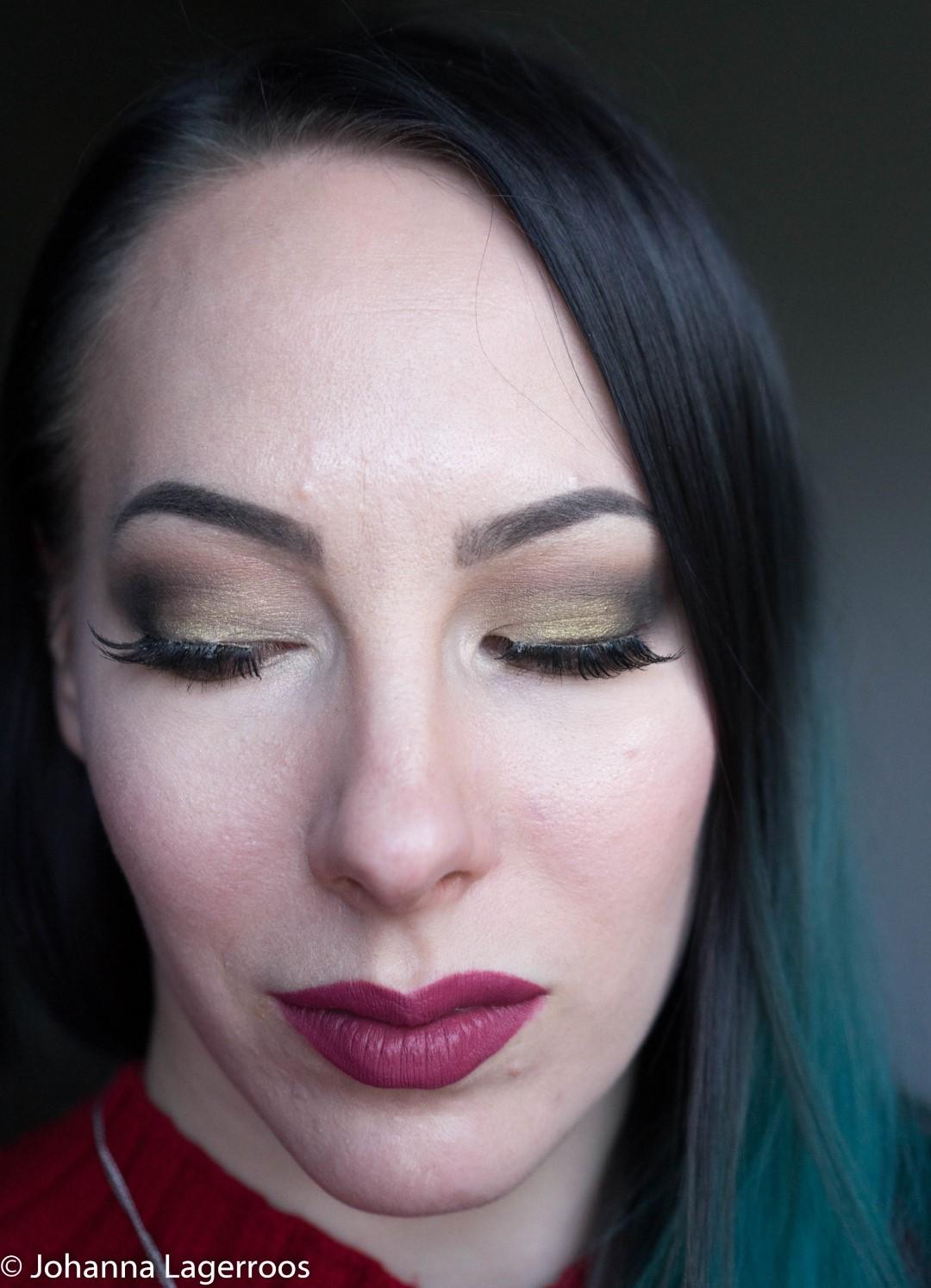 alien palette makeup look