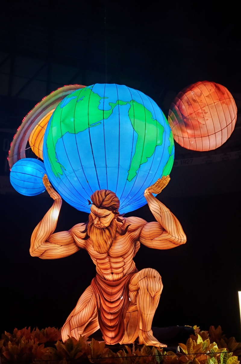 Atlas Holding the World CNE lantern festival