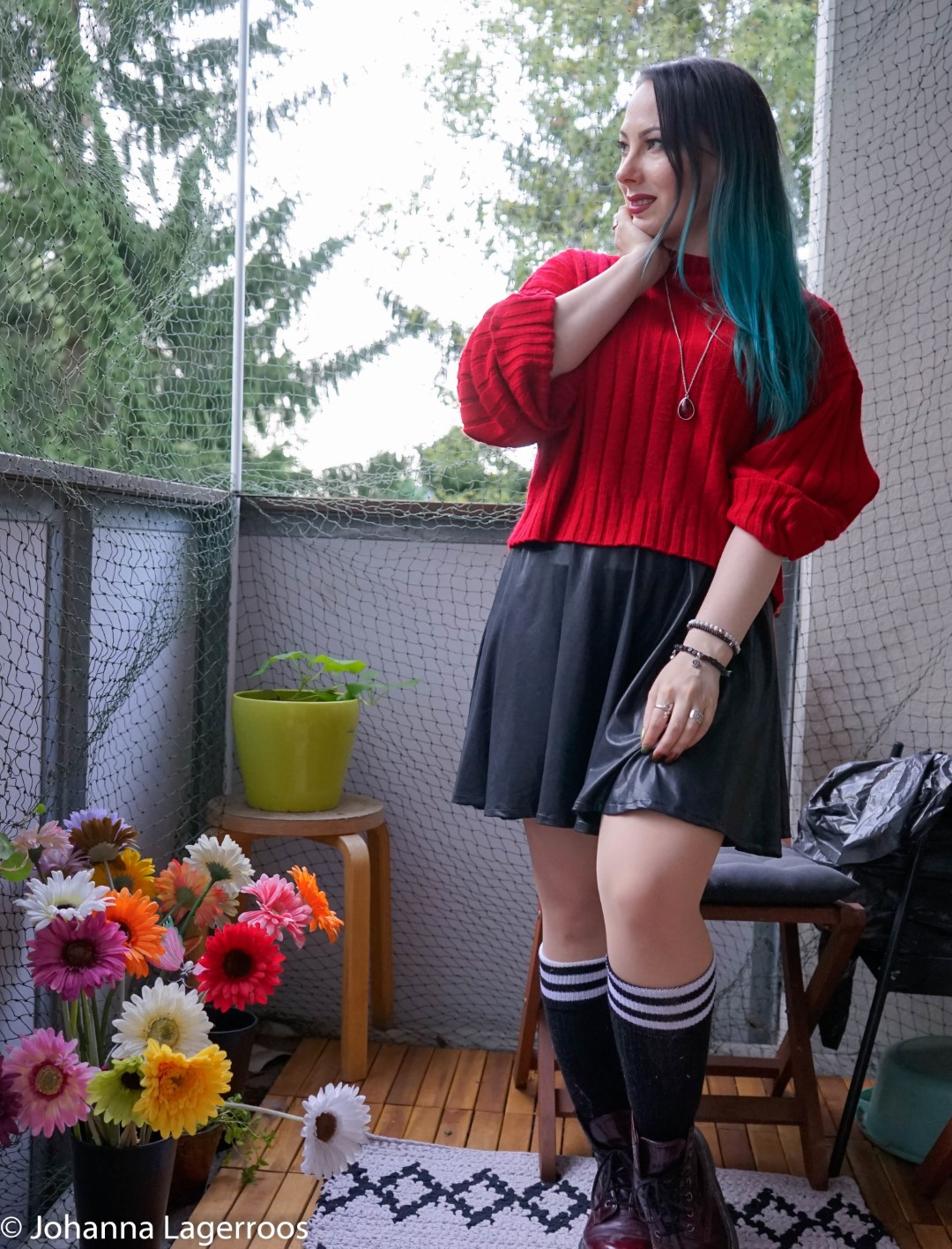 how to style chunky knit