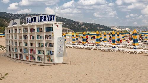 Albena, Bulgaria, beach library, Hotel Kaliakra