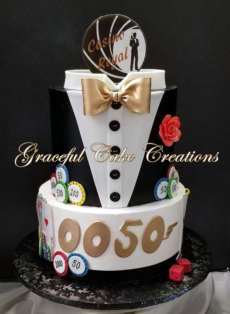 Marvelous James Bond Casino Royal Birthday Cake A Photo On Flickriver Personalised Birthday Cards Arneslily Jamesorg