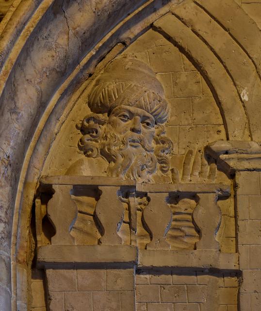 Paderborn, Westfalen, Dom, Matthiaskapelle, niche, detail