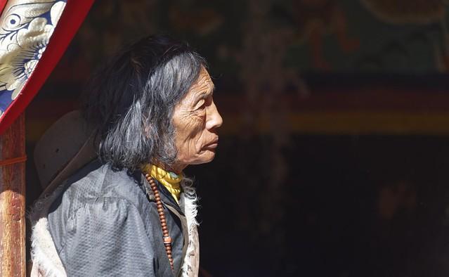 Nomad pilgrim at Sershul, Tibet 2018