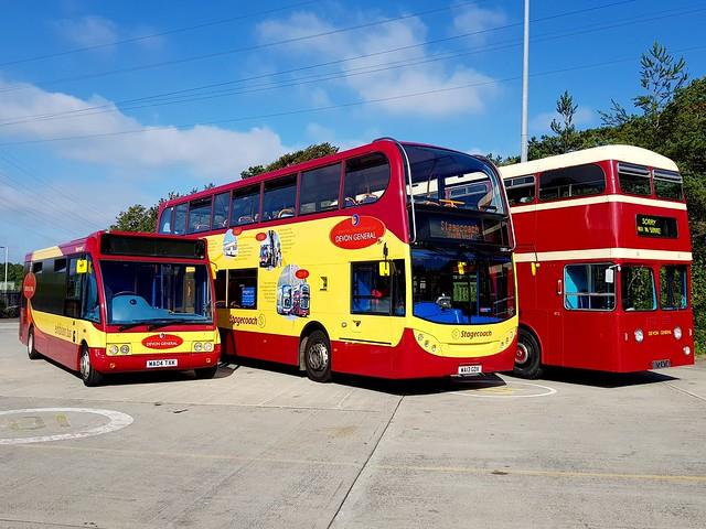 Devon General Line-up Stagecoach Plymouth Depot August 2019