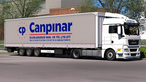 [ETS2] Canpinar Nakliyat combo v2 for Krone Megaliner by Sogard3 | by TheNuvolari
