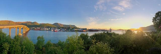 Midnight Sun on Stokmarknes